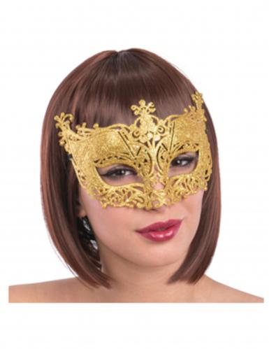 Goudkleurig Venetiaans masker voor volwassenen