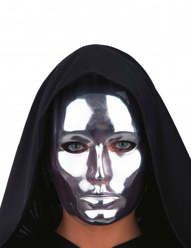 Zilverkleurig chroomachtig masker voor volwassenen