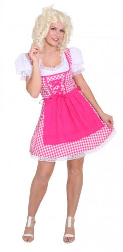 Traditionele roze verkleedkleding van Beierse vrouw