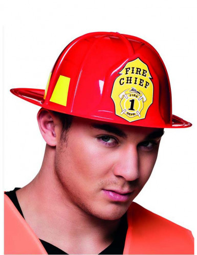 Rode brandweerman helm voor volwassenen
