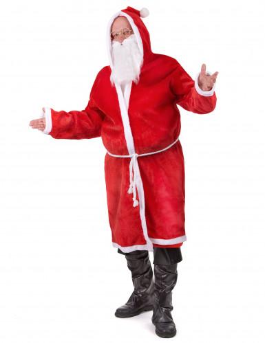 Kerstman pak met riem en baard voor volwassenen-1