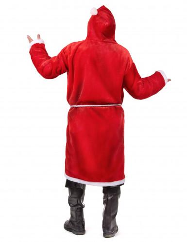 Kerstman pak met riem en baard voor volwassenen-2