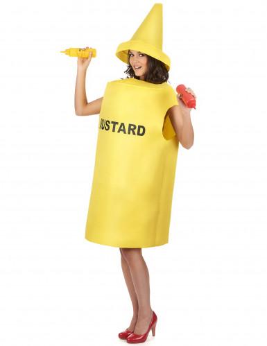 Mosterd fles kostuum voor volwassenen-1