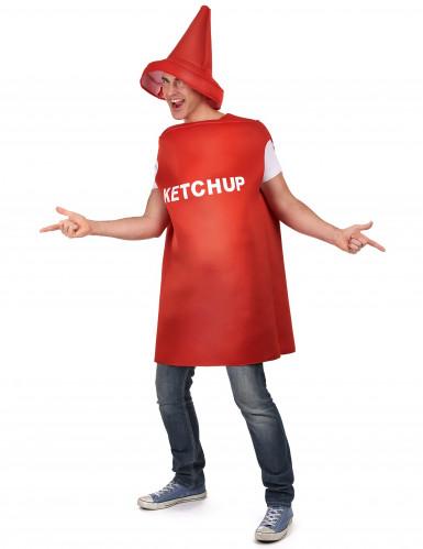 Humoristische ketchupfles kostuum voor volwassenen