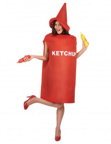 Humoristische ketchupfles kostuum voor volwassenen-1