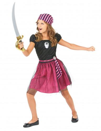 Roze piratenkostuum voor meisjes-1