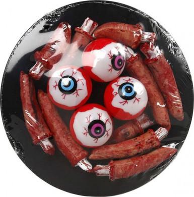 Dienblad met ogen voor Halloween