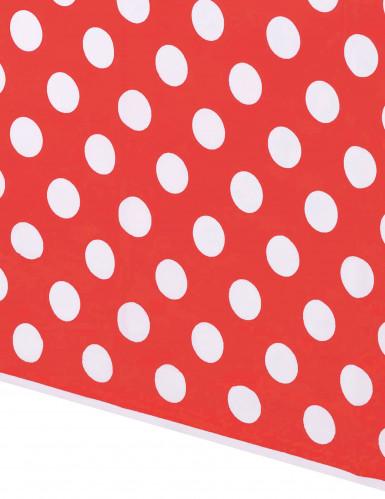 Rood plastic tafelkleed met witte stippen 137 x 274 cm-1