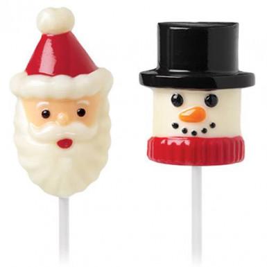 Vormpje voor spekjes Kerstman en sneeuwman