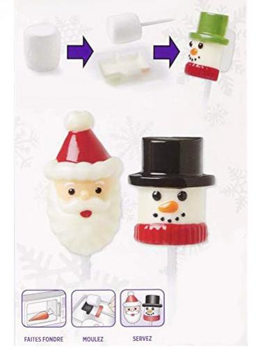Vormpje voor spekjes Kerstman en sneeuwman -1