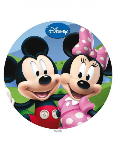 Eetbare taartdecoratie Mickey en Minnie�