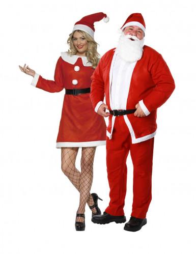 Duo kostuum Kerstman en Kerstvrouw