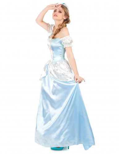 Blauw prinsessen kostuum voor dames-1