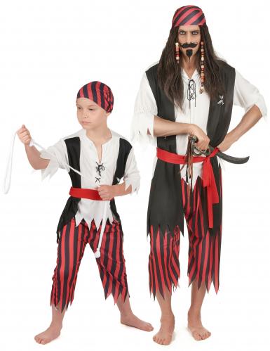 Piraten kostuums voor vader en zoon