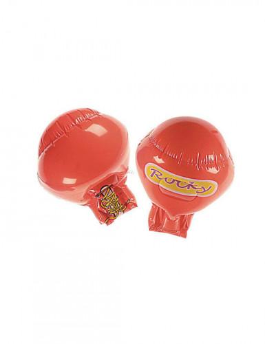 Rode opblaasbare bokshandschoenen