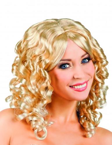 Blonde gekrulde pruik voor vrouwen