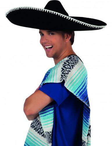 Zwarte sombrero voor volwassenen