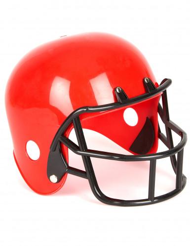 Grijs Amerikaanse voetbalspeler helm voor kinderen