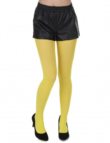 Gele panty voor volwassenen