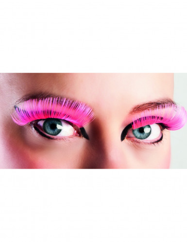 Valse roze lange wimpers voor volwassenen