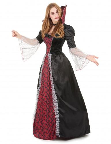 Bordeaux vampier kostuum voor vrouwen -2