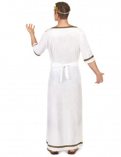 Klassiek wit met rood Romeinse keizer toga kostuum voor mannen-2