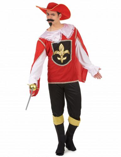 Fleur de lys musketier kostuum voor mannen