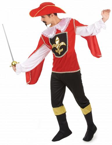 Fleur de lys musketier kostuum voor mannen-1
