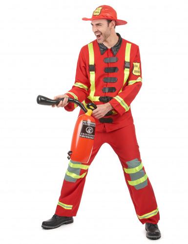 Brandweerman kostuum voor mannen-1