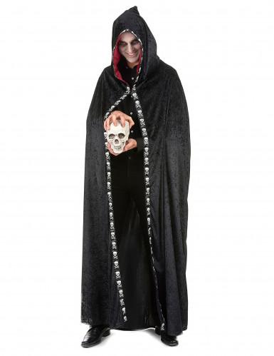 Zwarte Halloween cape voor volwassenen