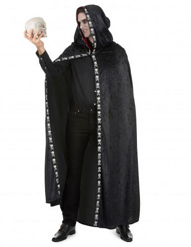 Zwarte Halloween cape voor volwassenen-1