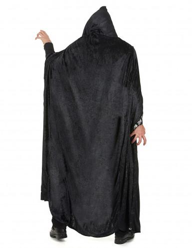Zwarte Halloween cape voor volwassenen-2