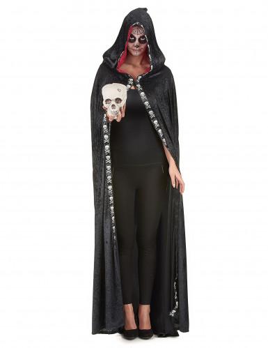 Zwarte Halloween cape voor volwassenen-5