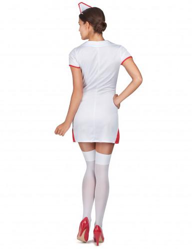 Sexy verpleegster kostuum met hoofdkapje voor vrouwen-2