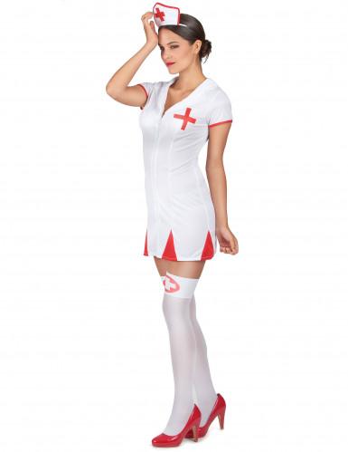 Sexy verpleegster kostuum met hoofdkapje voor vrouwen-1