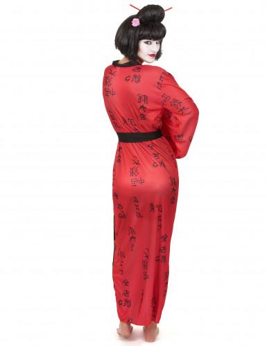 Geisha kostuum met Japanse tekens voor vrouwen-2