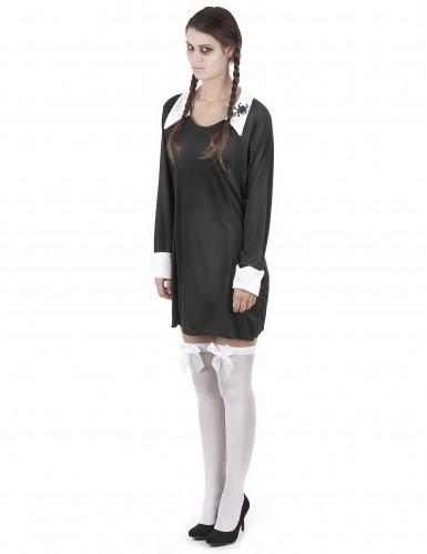 Duister gothic schoolmeisje jurk voor vrouwen -1