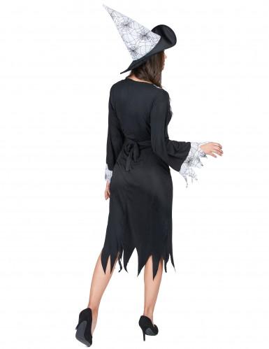 Zwart met wit heksen kostuum voor vrouwen-2