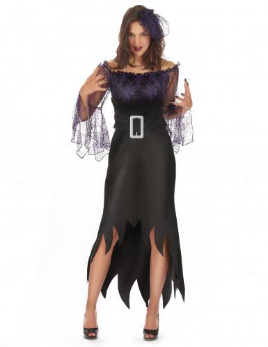 Paarse spin kostuum voor vrouwen