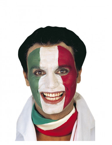 Italiaanse supporter schmink met drie kleuren-1