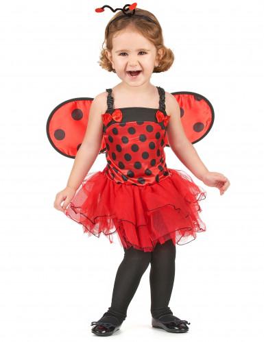 Lieveheersbeestje outfit met vleugels voor meisjes