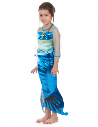 Blauwe zeemeermin jurk voor meisjes-1