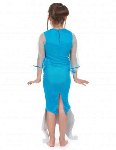 Blauwe zeemeermin jurk voor meisjes -2