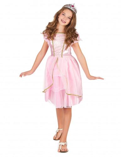 Roze prinses kostuum voor meisjes