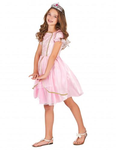 Roze fantasy prinses kostuum voor meisjes-1