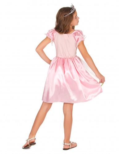 Roze fantasy prinses kostuum voor meisjes-2