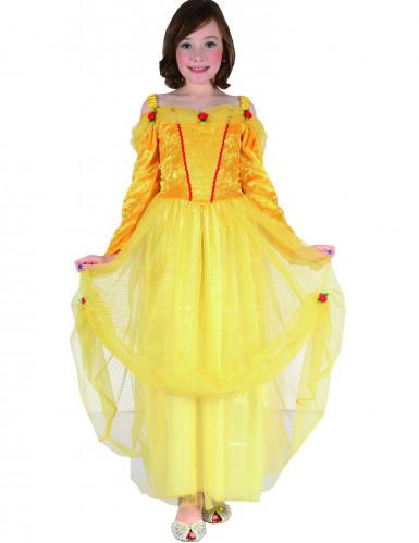 Gele prinsessen jurk voor meisjes