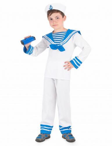 Blauw-wit matrozen kostuum voor jongens