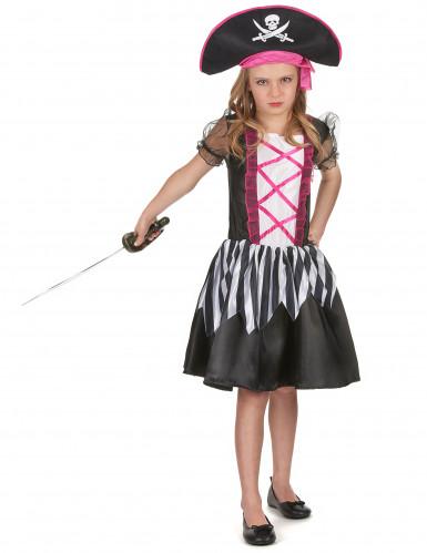 Piraten kostuum met roze kleuren voor meisjes