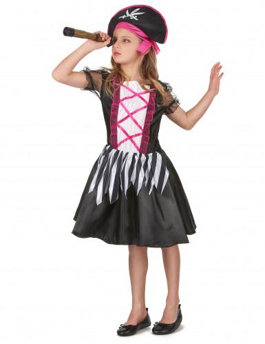 Piraten kostuum met roze kleuren voor meisjes-1